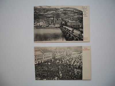 Lot of 2 Antique Postcard Drammen Norge / Norway