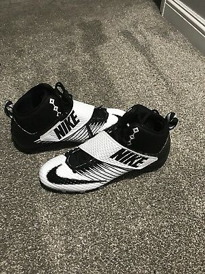 5c459dc6127 Nike Lunarbeast Strike Pro White Black Mid 3 4 TD Mens Football Cleats