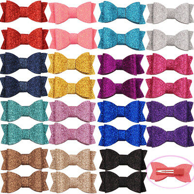 """30pcs 2.75"""" Hair Bows Full Lined Alligator Clips For Babies Toddlers Teens Gifts"""