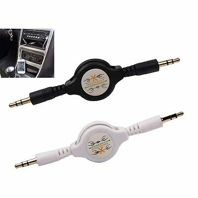 3.5mm Stereo Retractable AUX Cable Audio Input Male Extension Auxiliary Car Cord