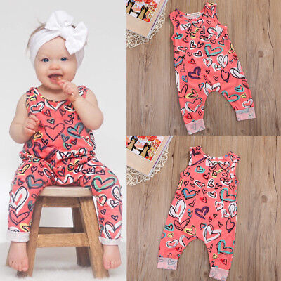 US Stock Cute Toddler Newborn Baby Girls Floral Romper Jumpsuit Playsuit Clothes