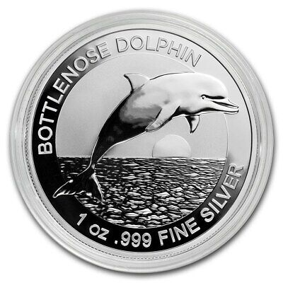 2019 Australia Bottlenose Dolphin 1 oz .999 Silver VERY LIMITED Capsuled BU Coin