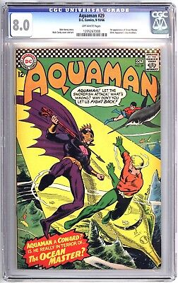 AQUAMAN 29 CGC 8.0, 1966 1st Appearance of OCEAN MASTER/PATRICK WILSON Movie HOT
