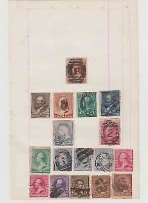 Usa Very Old Stamps Page High Cv