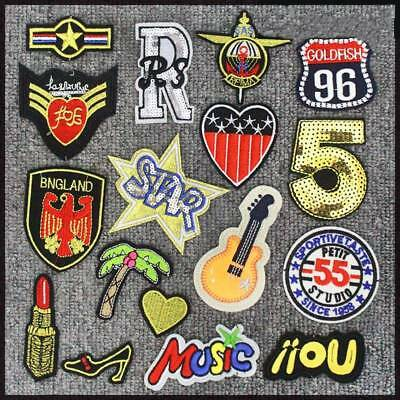 Patches Badge Embroidered Parches Bordados For Clothes 10pcs Iron On Decoration