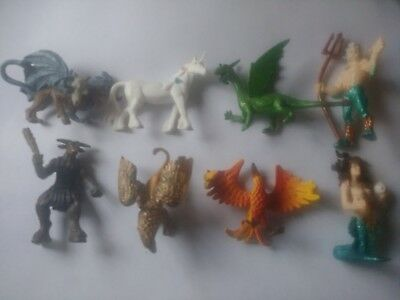 Lot of 8 Dragons Griffin Safari LTM Fantasy Mythical Creatures Figurines Toys