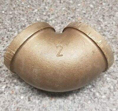 """Sa 2"""" Brass 90 Degree Elbow Pipe Threaded Fitting"""