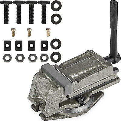 """4"""" Bench Lathe Milling Vice Swivel Base Drill Press 100mm Jaw Width Drilling"""