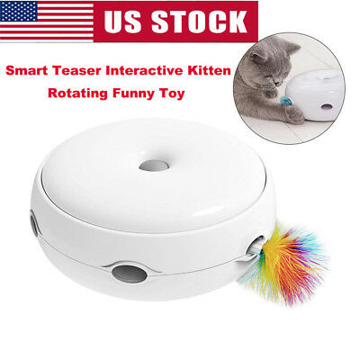 Electric Pet Cat Funny Toy Smart Teaser Interactive Kitten Rotating Designed Toy