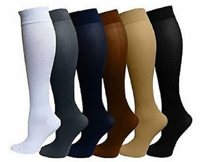 7af6e10cd9 (6 Pack) Compression Socks Unisex S/M L/XL Mens Womans Performance Firm