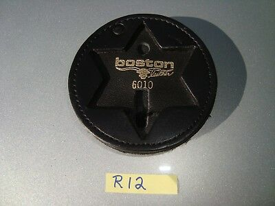 Boston 6010 Leather Police Law Badge Holder Stk#R12