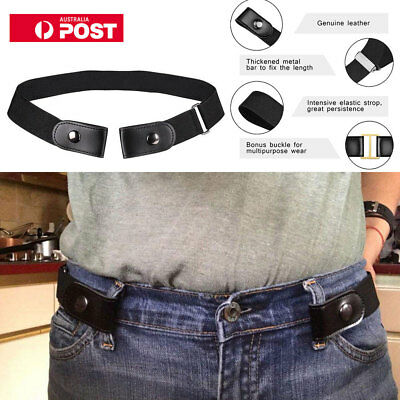 Unisex Buckle-free Elastic Womens Comfortable Invisible Adjustable Belt No Bulge