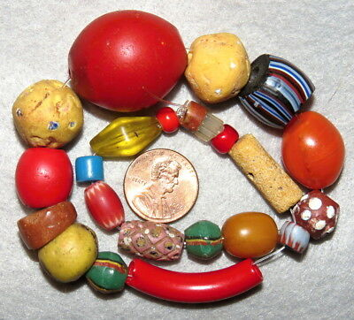 Antique Venetian Trade Beads Bumps and Bruises Lot
