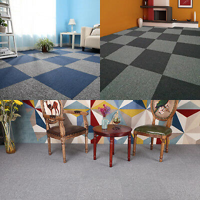 Carpet Tiles Home Retail Domestic Office Flooring Heavy Duty Box of 20 Tiles Mat
