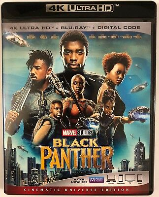 Disney Marvel Black Panther 4K Ultra Hd 1 Disc Only Free World Wdie Shipping