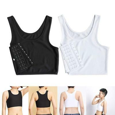 Short Chest Breast Vest Breathable Buckle Binder-Trans Lesbian Tomboy Cosplay