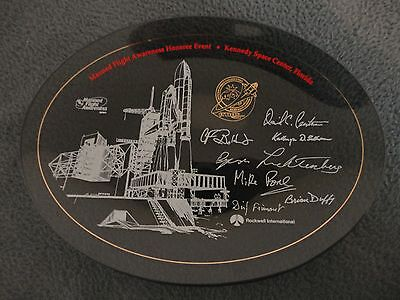 NASA & ROCKWELL Manned Flight Awareness Plate/1992 ATLAS Space Shuttle Mission