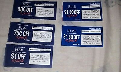 $5.25 in savings on Pall Mall cigarettes