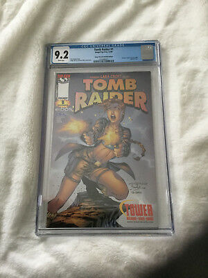 Tomb Raider No 1 - Tower records Holofoil edition CGC 9.2 Comic