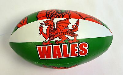 Childs WALES Leatherette Small RUGBY BALL, Welsh, Cymru