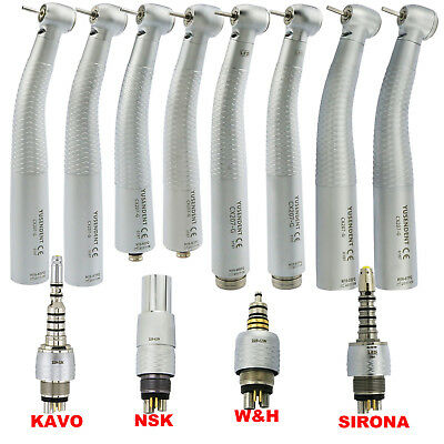 YUSENDENT COXO Dental Fiber Optic Handpiece KAVO NSK Sirona Led +Quick Coupling