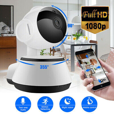 1080P WI-FI Wireless Pan Tilt Home Security IP Camera CCTV Night Vision Webcam