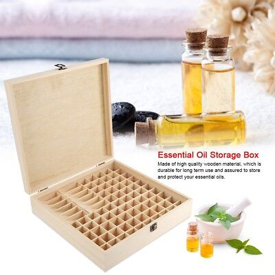 High Quality Wooden Material 87 Slots Wooden Large Essential Oil Storage Box