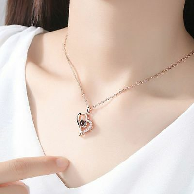100 Different Languages I Love U The Memory of Love Nanotechnology Necklace