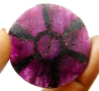 GGL Certified 90 Carat Burmese Red Trapiche Ruby Gemstone with Fine Spokes