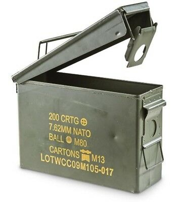 Ammo Box Tool Can .30 Cal Ammunition Box  Steel Fully Sealed Ex Military Army