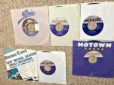 MICHAEL JACKSON, JACKSON FIVE lot of 45rpm 45's and Picture Sleeve