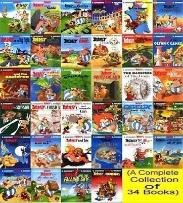 Asterix Comic Series Complete Collection 34 PDF Books + Master Resell Rights