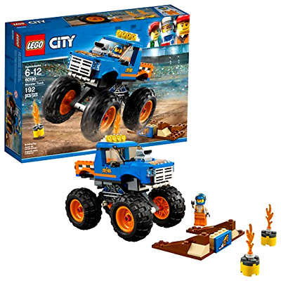 Building Lego City Monster Truck 60180 Kit 192 Piece Great Vehicles New Toy Car