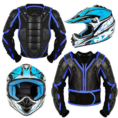 Motorbike Motorcycle Helmet Motocross Kids Body Armour Chlid Off Road Helmet New