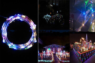 2M 20LED Copper Wire String Starry Light Fairy AA Battery Power Decor Multicolor