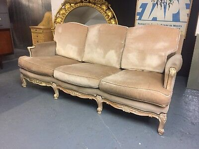 Vintage Antique French Louis Style Mid Century Chesterfield Sofa          M2927