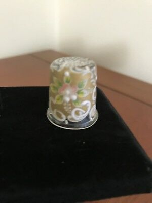 Lovely Clear Venetian Glass Hand-painted Thimble