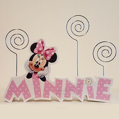 Official Disney Minnie Mouse 3 Clip Photo Holder Girls Frame Cute Gift for Her