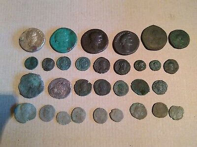 Set of roman bronze coins Sistertius, follis, AE bronze