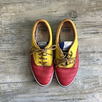 bc08c0b4a27 Keds Vintage 1992 Championship Series Tennis Shoes Womens Size 5.5 Red  Yellow