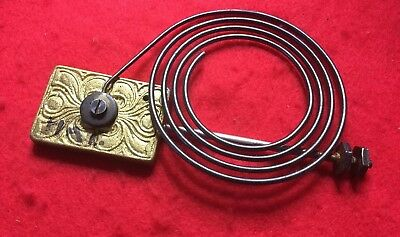 "HAC Clock Coil Gong With Ornate Gong Standard 6"" High 3 7/8"" Of Gong"