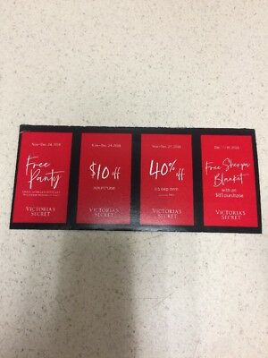 4 VICTORIA SECRET COUPONS Panty and Merchandise
