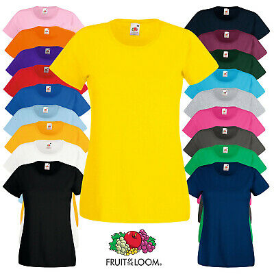T-Shirt Maglietta Valueweight T Lady Fit Manica Corta Donna Fruit Of The Loom