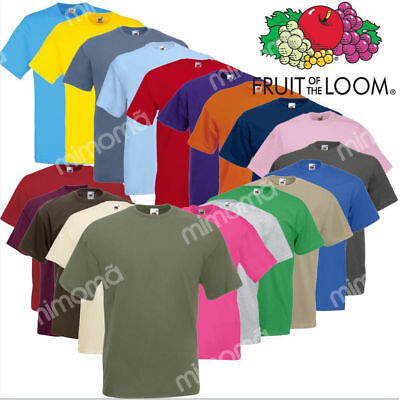 SET 1 5 10 T-SHIRT FRUIT OF THE LOOM Maglia Cotone Original Vari Colori