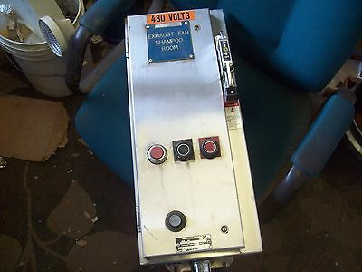 Square D Stainless Combination Motor Starter Disconnect Size 0 Starter 8536 Sb0