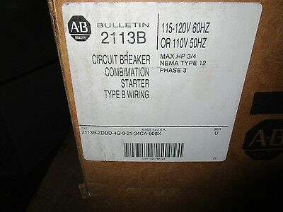 New Allen Bradley Combination Starter 2113B-Zbdb-4G-9-21-34Ca-908X