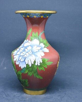 Vintage Chinese Cloisonne Vase ~ 6 inches tall~
