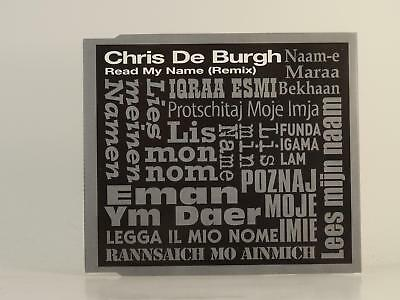 CHRIS DE BURGH,READ MY NAME,EX/EX,3 Track, Promotional CD Single, Picture Sleeve