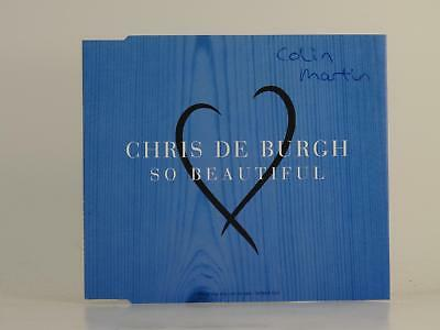 CHRIS DE BURGH,SO BEAUTIFUL,G/EX,3 Track, Promotional CD Single, Picture Sleeve,