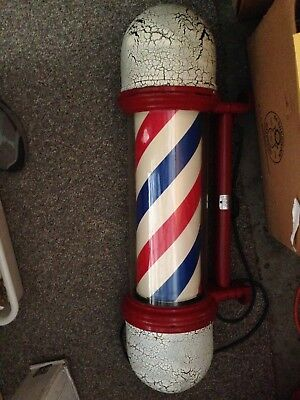 Antique Paidar Lighted Revolving Barber Pole
